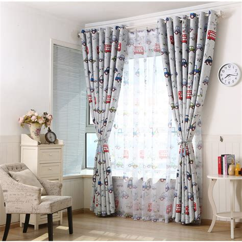 curtains for teenage bedrooms top bedroom blackout curtains cartoon cars drapes children