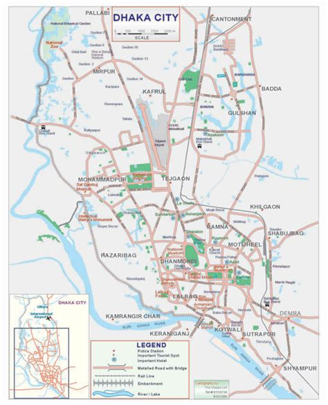 dhaka city road map about dhaka city and about history