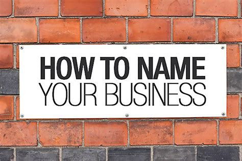 how to a name for your business how to name a business syob