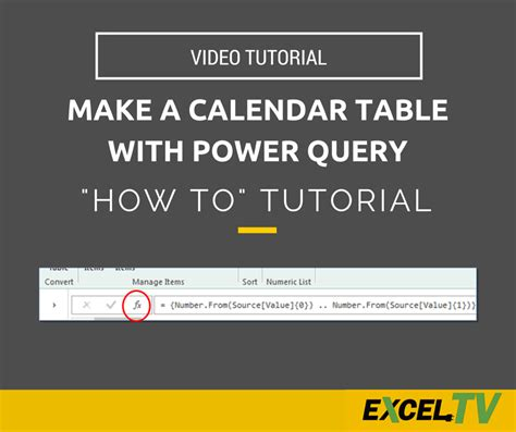 how to make calendar table in excel how to make a calendar table with power query excel tips