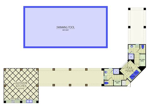 pool house floor plans or by kvh design pool hse outdoor