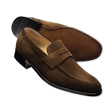 suede loafers for mens brown suede loafers mens business shoes from charles