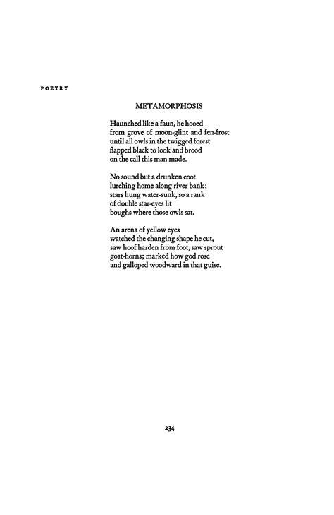 Metamorphosis by Sylvia Plath | Poetry Magazine