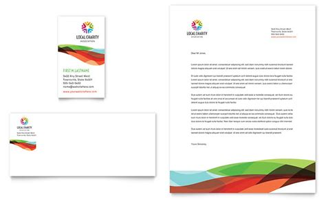 Charity Golf Event Business Card Letterhead Template Design Nonprofit Style Guide Template