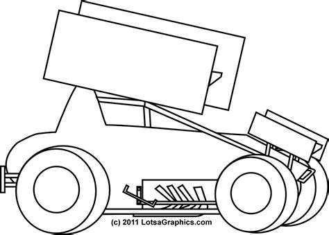 sprint car coloring page race car coloring pages az coloring pages