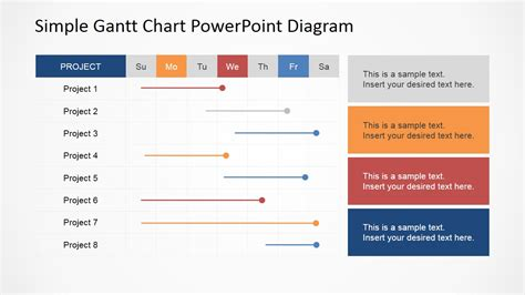 layout planning ppt simple gantt chart powerpoint diagram slidemodel