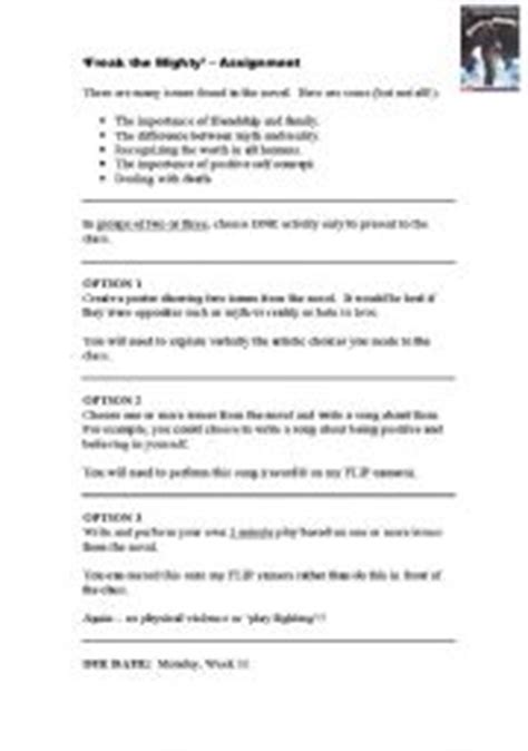 Freak The Mighty Vocabulary Worksheets by Freak The Mighty Worksheets Lesupercoin Printables Worksheets