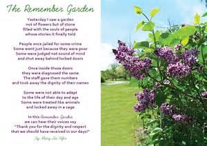the remember garden poem