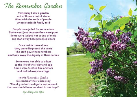 Garden Poems by The Remember Garden Poem