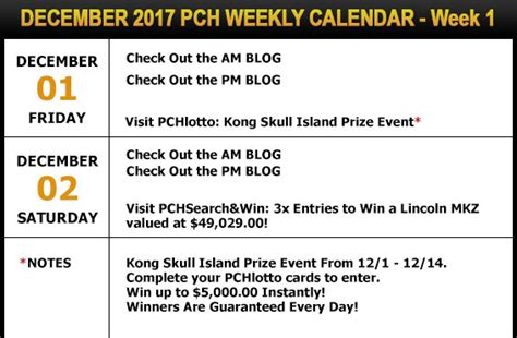 December Sweepstakes - happy holidays your pch schedule new sweepstakes for december pch blog
