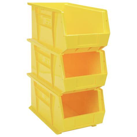 organization bins quantum heavy duty storage bins 3 pk yellow model qus840yl northern tool equipment