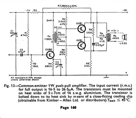 transistor lifier design book 1w transformer coupled audio
