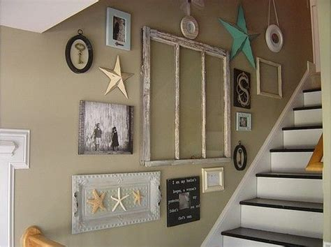how to decorate a wall staircase wall decorating ideas beach style staircase