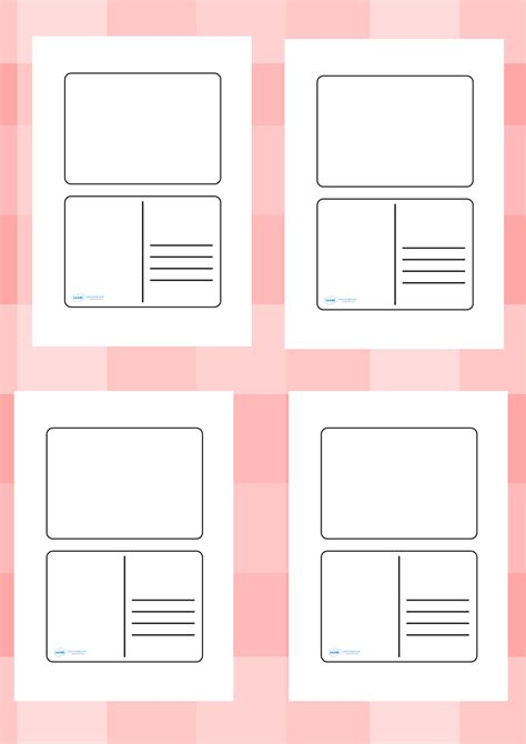 template ks1 twinkl resources gt gt blank postcard templates gt gt printable
