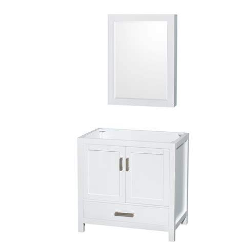 36 inch bathroom cabinet wyndham collection wcs141436swhcxsxxmed sheffield 36 inch