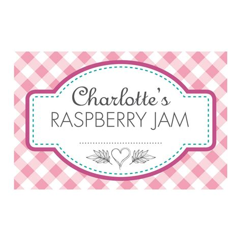 Gingham Pink Jam Jar Labels Jam Jars Labels For Stickers Labels Able Labels Donation Jar Label Template