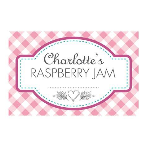 jam jar labels template gingham pink jam jar labels able labels