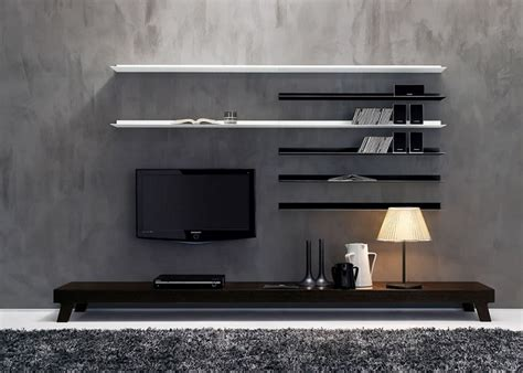 white wood floating shelves white high gloss finish wooden tv cabinet stand set with
