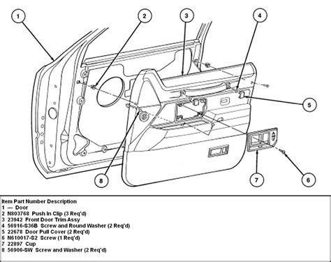 Diagram Of Door Knob Parts by Lincoln Town Car Parts Diagram Custom Lincoln Town Car