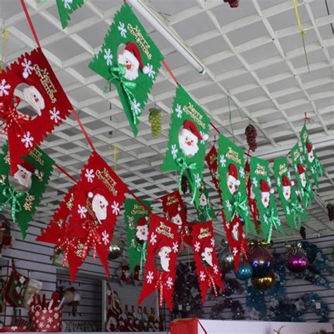 new home party decorations christmas colorful christmas new year 2 m long flag