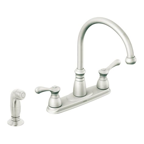 moen 2 handle kitchen faucet repair shop moen lexie stainless steel 2 handle high arc kitchen