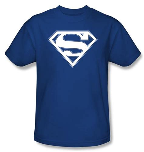 White College T Shirt superman logo t shirt blue and white college royal blue