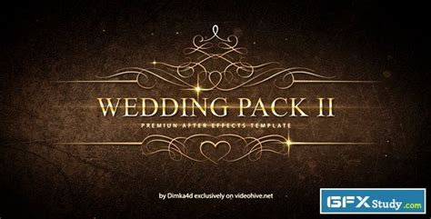 template after effects gfx wedding pack ii after effects project videohive