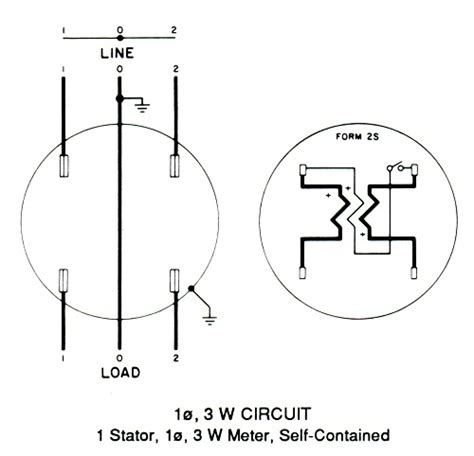 kilowatt hour meter schematic diagram circuit and