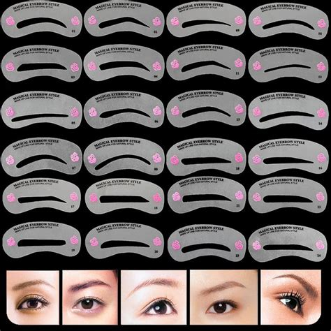 eyebrow guide template 17 best ideas about eyebrow stencil on brow