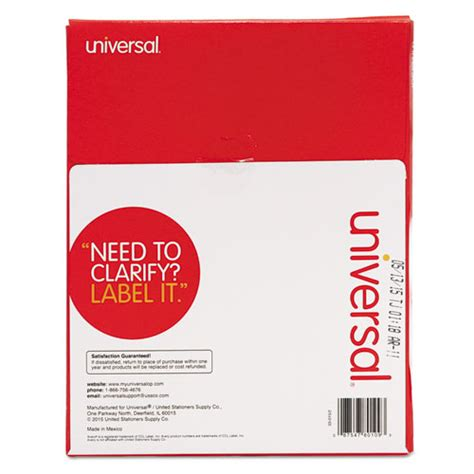 universal laser printer labels template universal unv80109 laser printer permanent labels 8 1 2 x