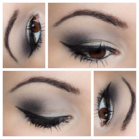 tutorial eyeshadow silver guest post silver smokey eye tutorial makeup and macaroons