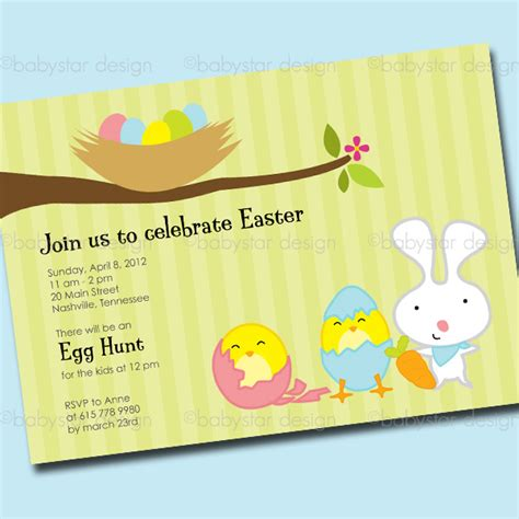 easter invitation template babystar design digital clipart and template store