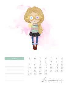 Calendã Fevereiro 2018 Free Printable 2018 Watercolor Harry Potter Calendar The