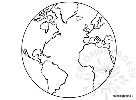 earth template printable coloring page