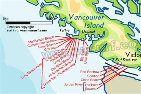map of usa and canada west coast west coast surfing in west coast canada wannasurf