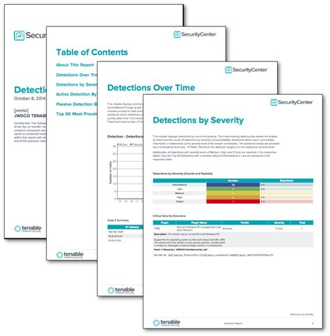 network security report template detections report