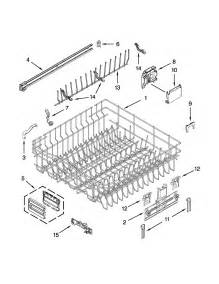 Kitchenaid Dishwasher Parts Store Rack And Track Parts Diagram Parts List For Model