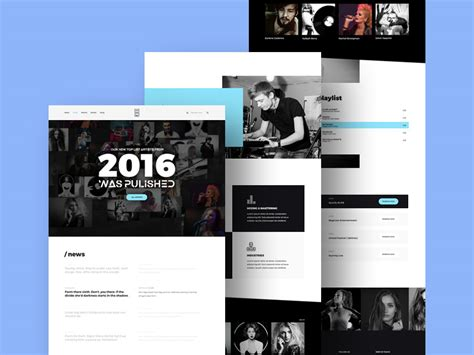 free music studio website template free psd at freepsd cc