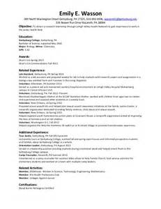Summer Resume Template resume summer 2014 internships