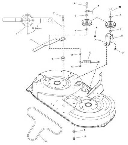 snapper lt 125 belt routing diagram