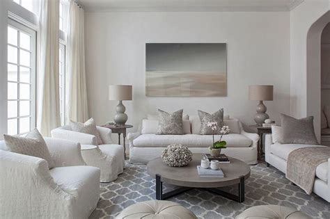 ivory  gray living room color scheme transitional