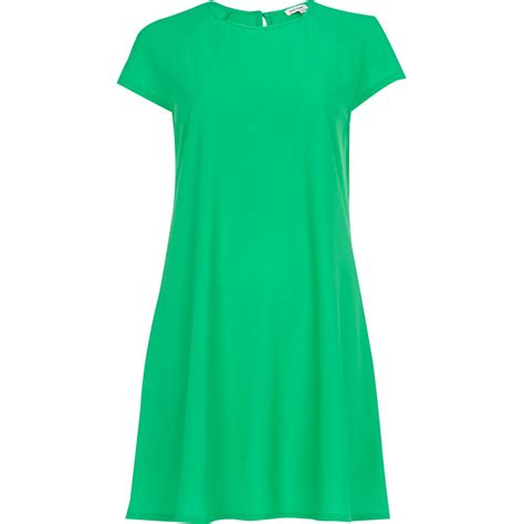 green swing dress river island green swing dress in green lyst