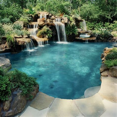 backyard pools with waterfalls 1000 ideas about i have a dream on pinterest dreams