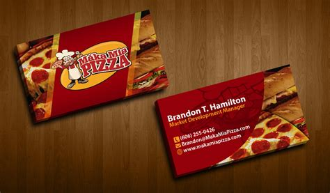 pizza business card template pizza business cards gallery business card template