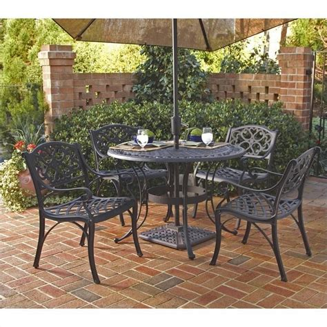 5 metal patio dining set in black 5554 308