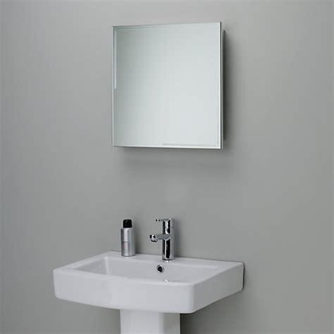 Buy John Lewis Ice Single Mirrored Bathroom Cabinet John Lewis Bathroom Storage