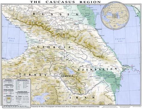 nau cus map geopolitics and crisis in the caucasus a report chyzmyz