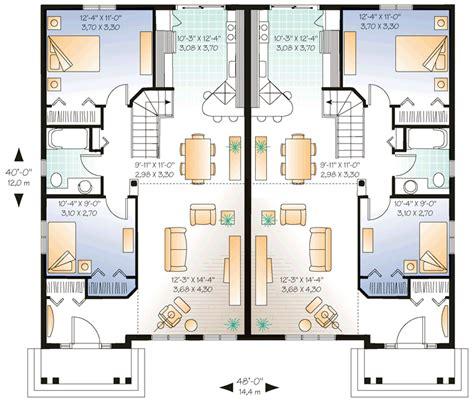 multi family home plans multi family plan 65026 at familyhomeplans