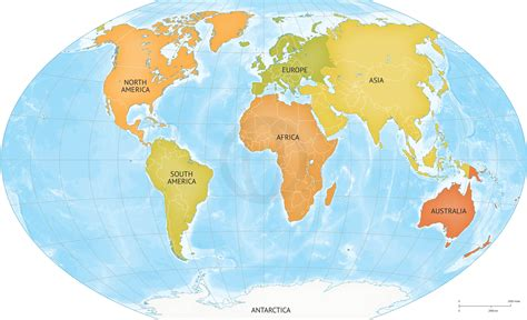 image of world map with continents vector map of world continents graphics on creative market