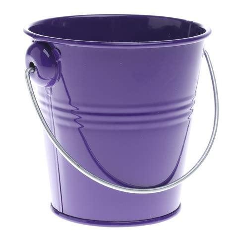 Purple Metal Pail   Planters   Containers   Floral